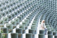 Serpentine Pavilion Bjarke Ingelsu0027 Pyramid For The Minecraft Generation