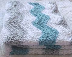 green gray blue chevron nursery - Google Search