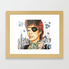 Bowie - Diamond dogs Framed Art Print by bublinko David Bowie Diamond Dogs, Dog Frames, Halloween Jack, Ziggy Stardust, Framed Art Prints, Artwork, Shop, Work Of Art, Auguste Rodin Artwork