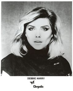 Date: 1980s  Details: Debbie Harry promo photo taken by Brian Aris. http://www.rip-her-to-shreds.com