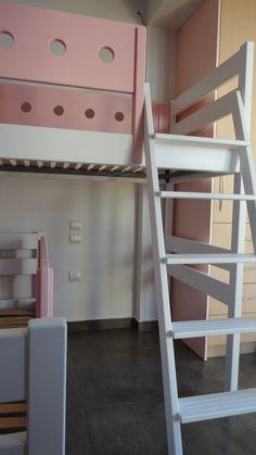 Κρεβάτι κουκέτα σουηδικό ξύλο λάκα. ΕΠΙΠΛΑ ΚΑΦΡΙΤΣΑΣ Loft, Bed, Furniture, Home Decor, Decoration Home, Stream Bed, Room Decor, Lofts, Home Furnishings