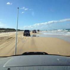 Frazer Island, Australia....the beach is the road.....largest sand island in the world.....