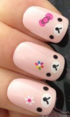 Rillakuma nails.