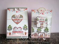 Matching card and box using Hunkydory's Boutique Chic collection