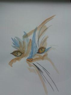 Chat (aquarelle)