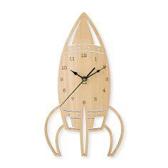 rocket wooden clock clock laser cut wall clock with by MJKClocks, $39.00