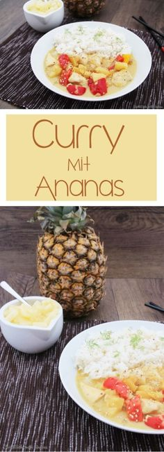 C&B with Andrea - Curry mit Ananas Rezept - www.candbwithandrea.com - vegan - Collage