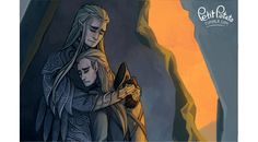 "petitpotato: ""Finally time to deal with my BOFA feels, haha "" / Thranduil and Legolas"
