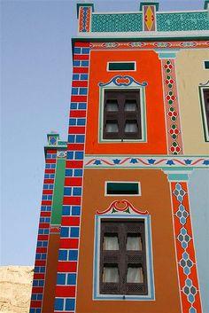 Facade of Wadi Do'an Buqshan Khaila Palace - Yemen by Eric Lafforgue, via Flickr
