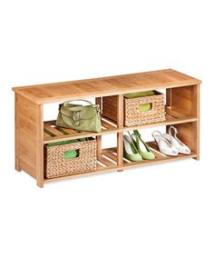This Bamboo Shoe Bench by Honey-Can-Do is perfect! #zulilyfinds