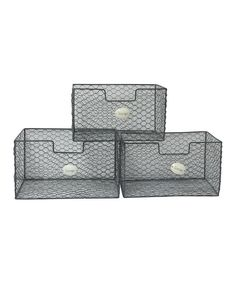 Look at this Wire Square Basket Organizer Set on #zulily today!