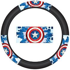 Captain America Colored Shield Logo Marvel Comics Auto Car Truck SUV Vehicle Universal-fit Steering Wheel Cover - Speed Grip - http://www.caraccessoriesonlinemarket.com/captain-america-colored-shield-logo-marvel-comics-auto-car-truck-suv-vehicle-universal-fit-steering-wheel-cover-speed-grip/  #America, #AUTO, #Captain, #Colored, #Comics, #Cover, #Grip, #Logo, #Marvel, #Shield, #Speed, #Steering, #Truck, #Universalfit, #Vehicle, #Wheel #SUV-Wheels, #Tires-Wheels
