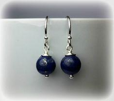 Lapis Lazuli Earrings Silver Drop Earrings Gold Drop Earrings Lapis Lazuli Jewelry Blue Earrings Handmade Jewelry Gift For Women by KarousosJewelry on Etsy