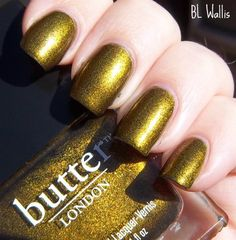 This is my favorite polish for fall. I have had it on for a week.   butter london wallis