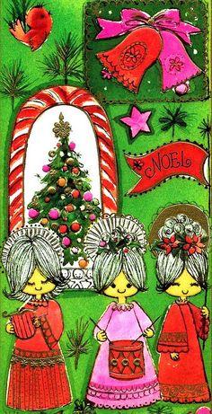Christmas •~• vintage mod greeting card