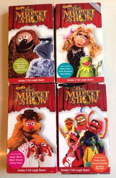 SALE AND FREE SHIPPIHNG The Best of the Muppet Show - 4 Pc Lot VHS Tapes Movie Elton John Debbie Harry