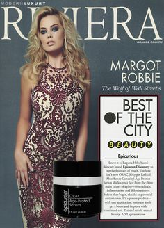 Riviera OC January 2014 | Epicuren® ORAC Age-Protect Serum | Best of the City Beauty | page 91
