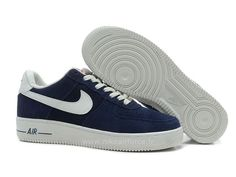Nike Air Force 1 Basse Suede Navy Blanc Chaussure pour Homme Nike Air Force 1 07