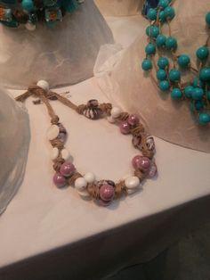 Collana perle e spago