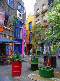 Covent Garden, Neal's Yard, London Like a little piece of Austin in the middle of London.
