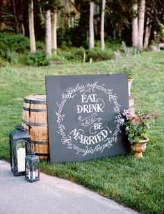 The Vault: Curated & Refined Wedding Inspiration - Style Me Pretty Event Signage, Wedding Signage, Wedding Reception, Wedding Venues, Perfect Wedding, Diy Wedding, Rustic Wedding, Dream Wedding, Wedding Ideas