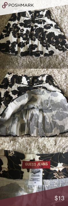 "Guess jeans skirt Skirt size 29 black white waist 31"" length 17"" Guess Skirts Mini"