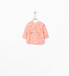 Camiseta topos detalle brillo-Tops-MINI | ZARA España