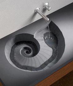 seashell sink sacred geometry spiral