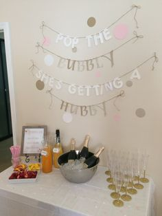 Pop The Bubbly She's Getting A Hubby by RoyalTreatmentDecor....love this sign!!