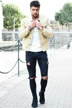 how to wear skinny jeans for men.. #mensfashion #style