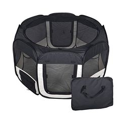 I just read a great review on this New Large Black Pet Dog Cat Tent Playpen Exercise Play Pen Soft Crate T08. You can get all the details here http://bridgerguide.com/new-large-black-pet-dog-cat-tent-playpen-exercise-play-pen-soft-crate-t08/. Please repin this. :)