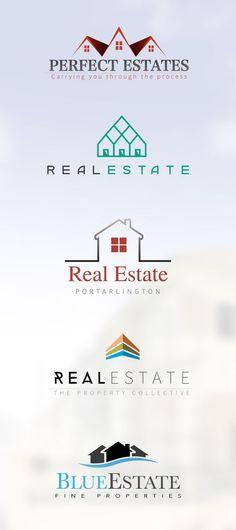 #real #estate #logo #design: