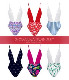 GIOVANNA SWIMSUIT Sims 4 Cas, My Sims, Sims Cc, Sims 4 Cc Kids Clothing, Sims 4 Mods Clothes, Sims 4 Teen, Sims Four, Sims 4 Black Hair, The Sims 4 Packs