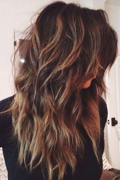 18 Freshest Long Layered Hairstyles with Bangs Freshest Long Layered Hairstyles with Bangs: Face-Framing & Fabulously Flattering High-Fashion Hair! Curly Hair Styles, Long Curly Hair, Long Hair Cuts, Wavy Hair, Medium Hair Styles, Long Hair Short Layers, Hair Medium, Men's Hair, Layered Hair With Bangs