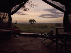Wake up to this beautiful view at Olakira Camp, a small & intimate camp that follows the wildebeest migration across the Serengeti plains.