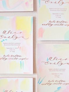 Hand-Painted-Rose-Gold-Foil-Birth-Announcements-Mon-Voir-Calligraphy-Bella-Figura-OSBP-174