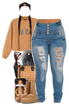 """""""."""" by renipooh ❤ liked on Polyvore featuring Monki, Bobbi Brown Cosmetics, MCM, UGG Australia and Minnie Grace"""