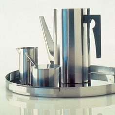 Cylinda-Line, a stainless steel service by Arne Jacobsen for Stelton, 1967, Denmark.