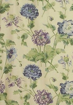LAURA ASHLEY curtains made in HEPWORTH LAVENDER LINEN