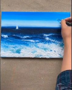 Canvas Painting Tutorials, Diy Canvas Art, Cool Art Drawings, Disney Art, Painting Inspiration, Painting & Drawing, Landscape Paintings, Watercolor Art, Art Projects