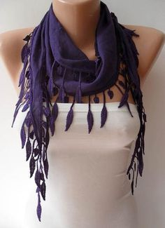 I found 'Trend - Fashion - Purple Scarf with Trim Edge - Lightweight Cotton Scarf' on Wish, check it out!