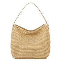 Madelyn Natural Raffia Hobo - A seasonal favorite in one of our signature silhouettes, the Madelyn hobo in raffia is the essential spring bag. This comfortable hobo features a flat leather strap and a leather trimmed interior pocket for your most important essentials. Style this raffia hobo with a flowing maxi or skinny jeans and a simple top for a complete look.