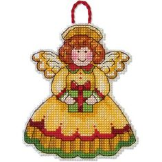 Susan Winget Angel Ornament Counted Cross Stitch Kit