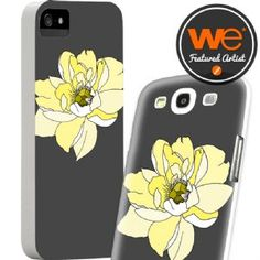 Samsung Galaxy S3 Faceplate/Screen Protector - Samsung Galaxy S3 Peony Yellow Slim Case by Ferntree Studio