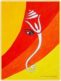 Ganesha Sketch, Ganesha Drawing, Lord Ganesha Paintings, Ganesha Art, Sri Ganesh, Ganesh Pic, Ganesh Rangoli, African Art Paintings, Rangoli Designs Images