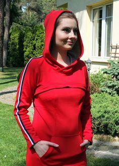 Sukienka Emma czerwona z lampasem