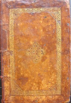 Northern Italian gold-tooled calfskin binding c. 1525-35 with a knotwork decoration typical of Mudejar bindings of the Moors in Spain.