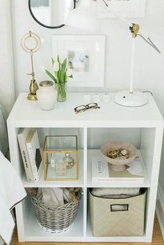 """KALLAX Shelf unit - high gloss white - IKEA- KALLAX Shelf unit – high gloss white – IKEA Obtain wonderful recommendations on """"cheap home decor diy"""". They are actually readily available for you on our site. Apartment Decoration, Diy Home Decor For Apartments, Decoration Bedroom, Room Decorations, Studio Apartments, Small Apartments, Cheap Bedroom Decor, College Apartments, College Dorms"""