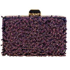 Lanvin Women's Miniature Embellished Hand Bag ($685) ❤ liked on Polyvore featuring bags, handbags, clutches, purses, bolsas, borse, blue, lanvin handbag, beaded purse and rose handbag