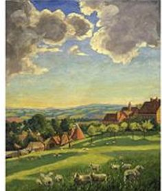 by winston churchill Chartwell landscape with sheep